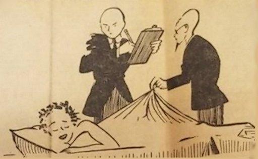 kinsey inspecting sleepwear cartoon