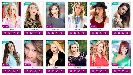 profile photos from Your Ukrainian Wives