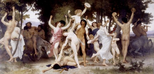 The Youth Of Bacchus painting by William-Adolphe Bouguereau
