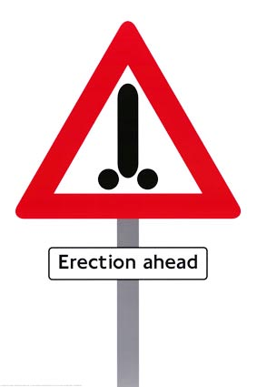 Erection ahead poster
