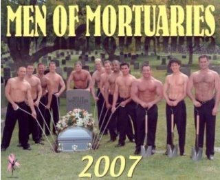 Sexy Mortuary Men Calendar Cover