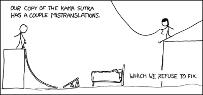 Mistranslations, from XKCD